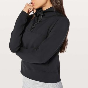 Lululemon Tied to You Black Pullover